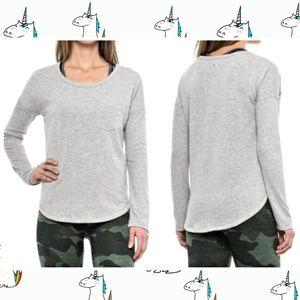 90° By Reflex Missy Brushed Terry LS Shirt • SZ M